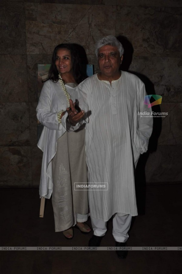 Javed Akhtar and Shabana Azmi at Special Screening of Margarita with a Straw