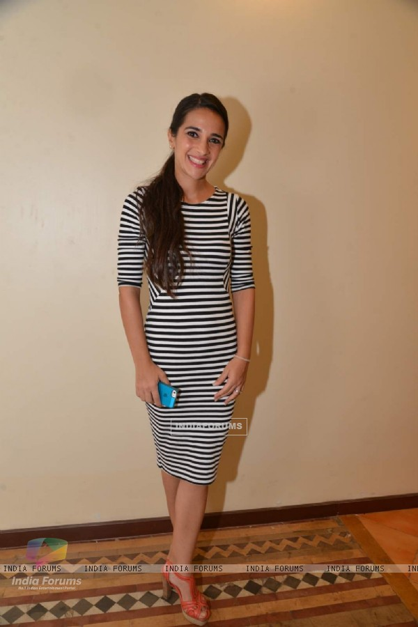 Tara Sharma poses for the media at The Gateway Schools Annual Art Show
