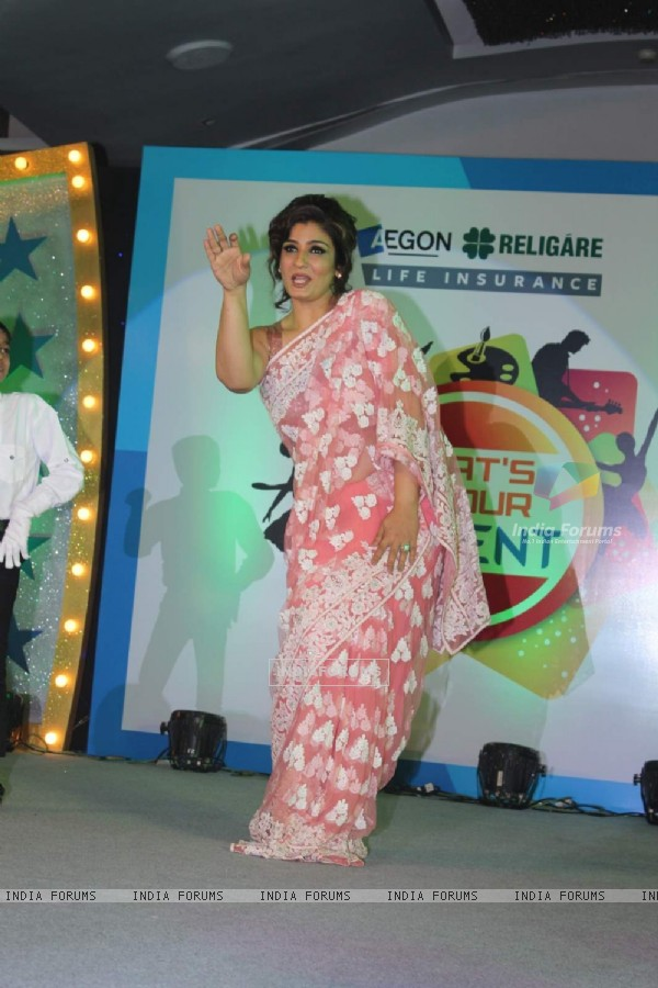 Raveena shows some moves at What's Your Talent by Religare