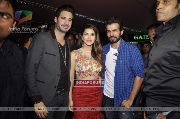 Sunny Leone and Jay Bhanushali at Promotions of Ek Paheli Leela
