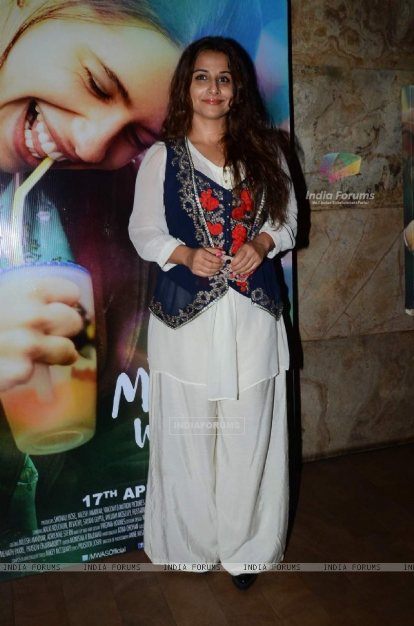 Vidya Balan Attends Screening of Margarita With a Straw