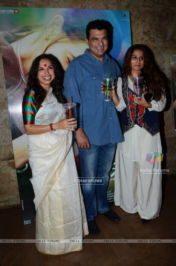 Siddharth Roy Kapoor, Vidya Balan And Shonali Bose Poses at Screening of Margarita With a Straw
