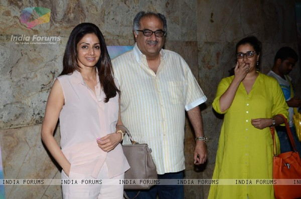 Boney Kapoor and Sridevi Attends Screening of Margarita With a Straw