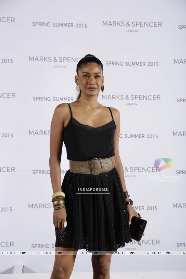 Carol Gracias poses for the media at Marks & Spencers Spring/Summer 2015 Collection Launch