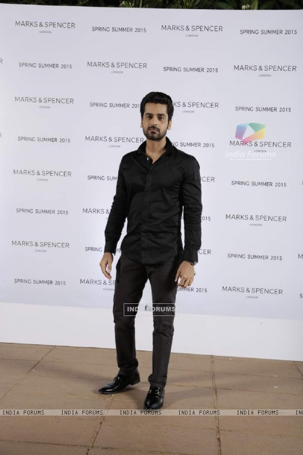 Arjan Bajwa poses for the media at Marks & Spencers Spring/Summer 2015 Collection Launch