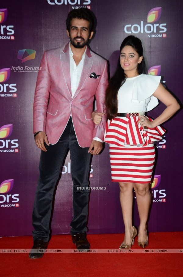 Jay Bhanushali and Mahhi Vij at Color's Party