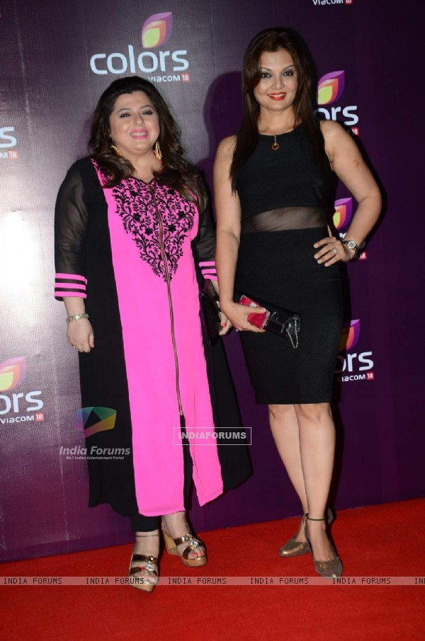 Deepshikha and Delnaaz Irani at Color's Party