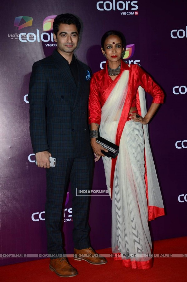 Harshad Arora and Suchitra Pillai at Color's Party