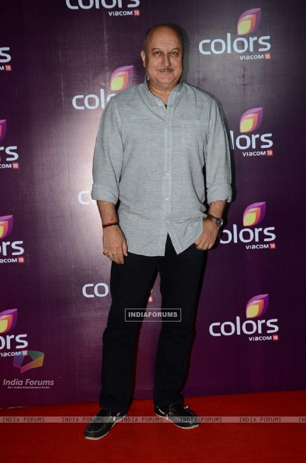 Anupam Kher at Color's Party