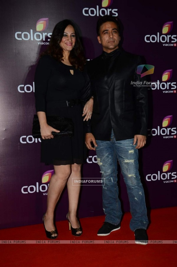 Rakshanda Khan with Sachin Tyagi at Color's Party