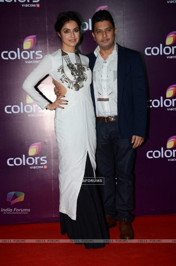 Divya Khosla And Bhushan Kumar at Color's Party