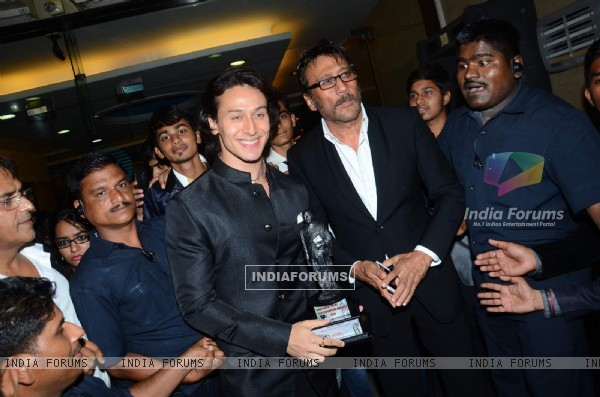 Tiger Shroff and Jackie Shroff attends Dadasaheb Phalke Film Foundation Award