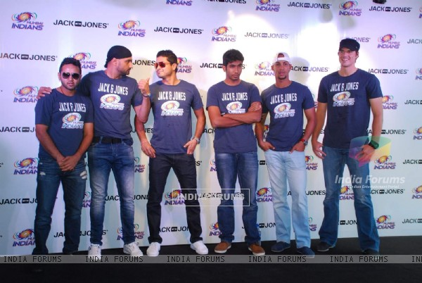 Mumbai Indians Team Visits Jack and Jones Store in Mumbai