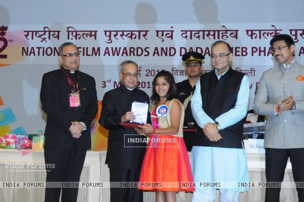 Honorable President Pranab Mukherjee & Minister of Broadcasting Arun Jaitley at National Awards 2015