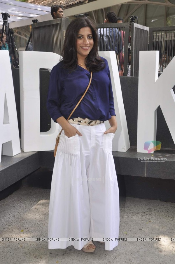 Zoya Akhtar poses for the media at the Music Launch of Dil Dhadakne Do