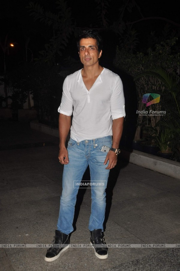 Sonu Sood at Priyanka and Kangana's Bash for Winning National Awards