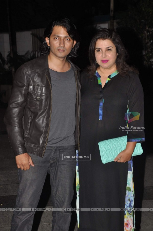 Shirish Kunder and Farah Khan at Priyanka and Kangana's Bash for Winning National Awards