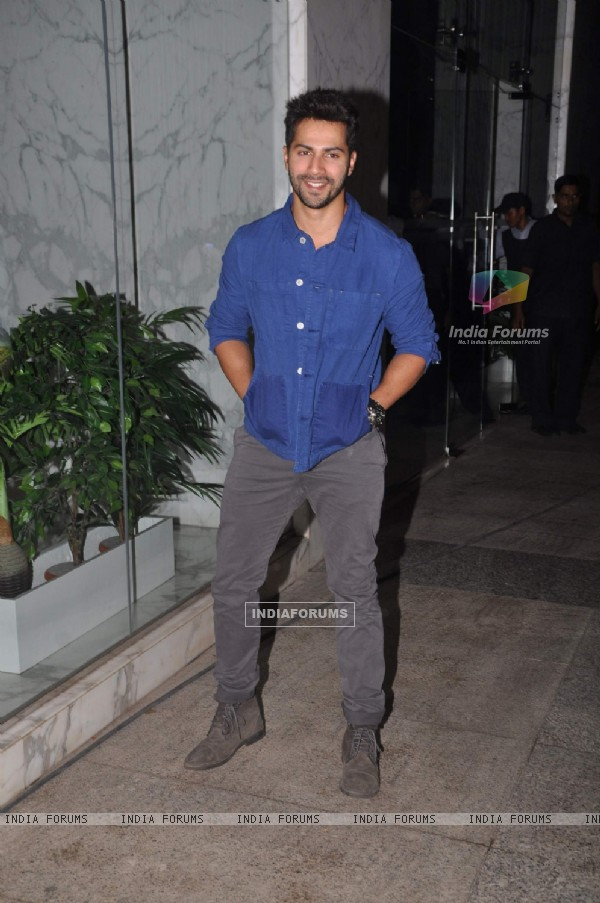 Varun Dhawan at Priyanka and Kangana's Bash for Winning National Awards