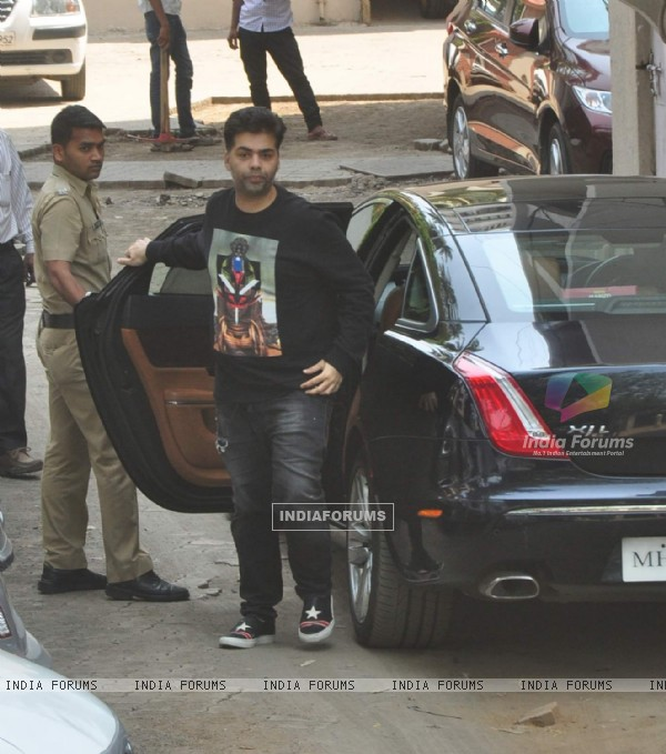 Karan Johar Snapped at Salman's Residence (Galaxy Apartments)