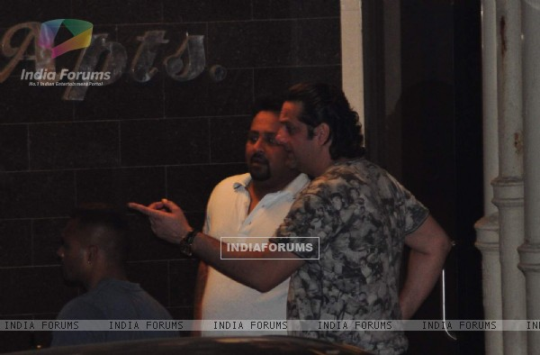 Fardeen Khan Snapped at Salman's Residence (Galaxy Apartments)