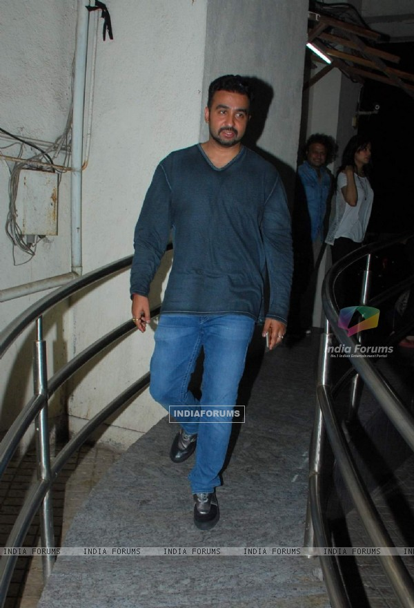 Raj Kundra Snapped at Piku Screeening