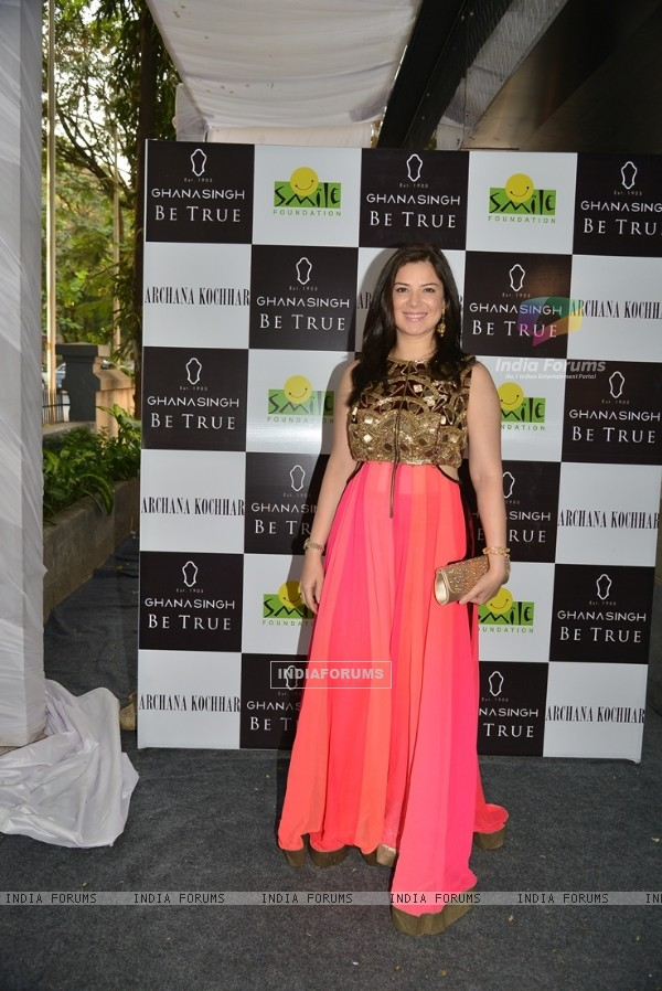 Urvashi Sharma poses for the media at Ghanasingh 'Be True' Event
