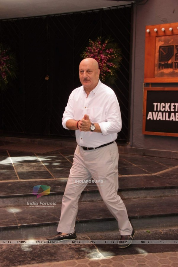 Anupam Kher was snapped at the Felicitation Ceremony of Shashi Kapoor