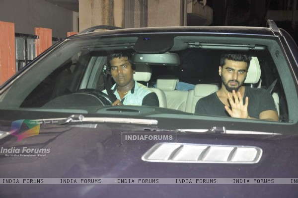 Arjun Kapoor at Ranbir's Bash for Bombay Velvet