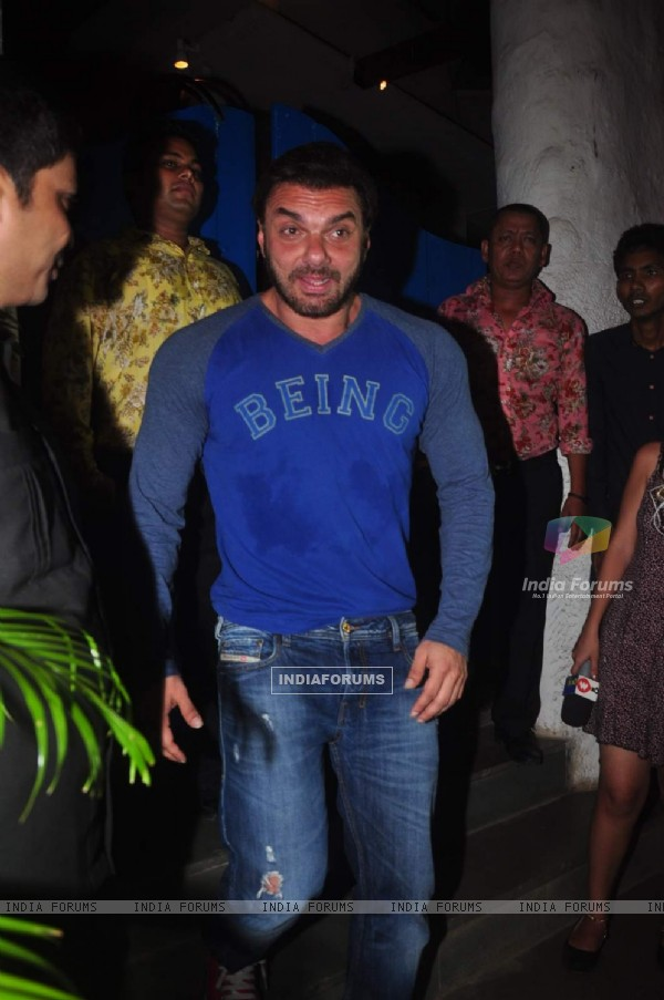 Sohail Khan at Deepika's Success Bash for Piku!