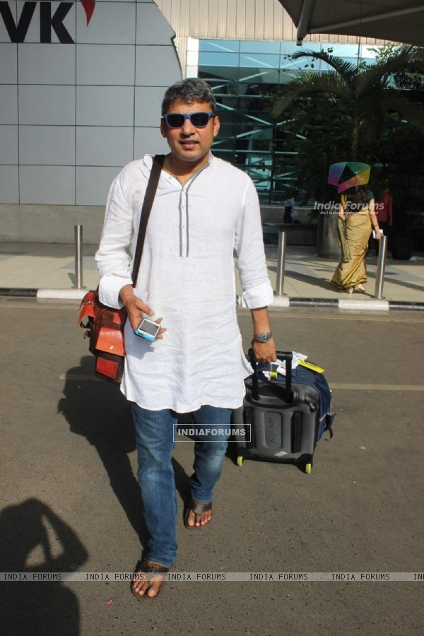 Ajay Jadeja Snapped at Airport