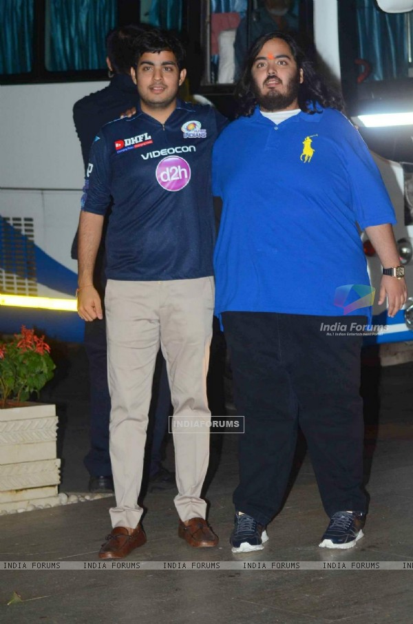Anant and Akash Ambani at Bash for Mumbai Indians Win!