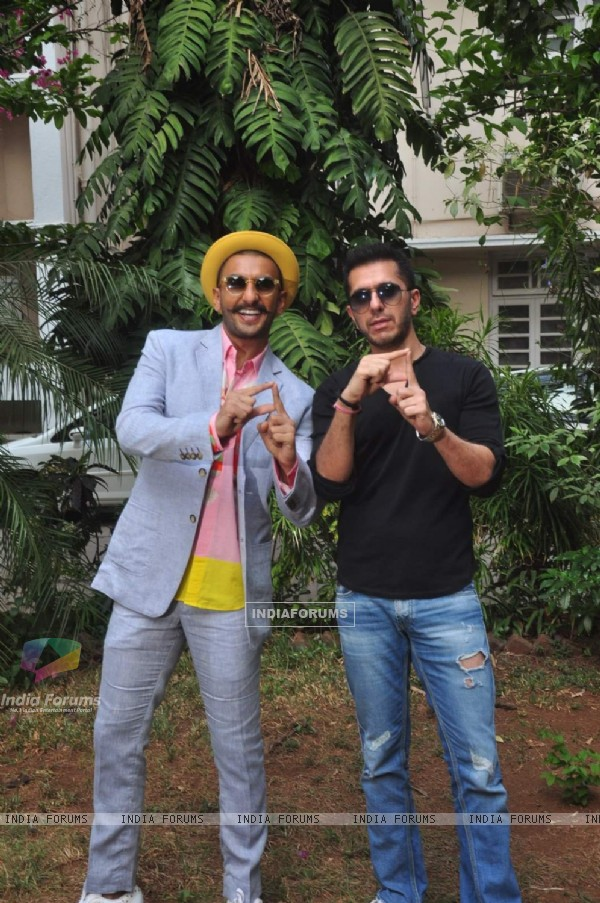Is that D? Ranveer and Ritesh Sidhwani at Photoshoot of Dil Dhadakne Do