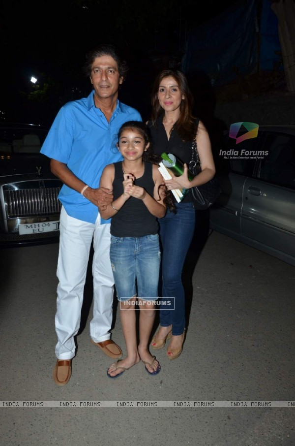 Chunky Pandey With His Family at Shiamak Davar show!