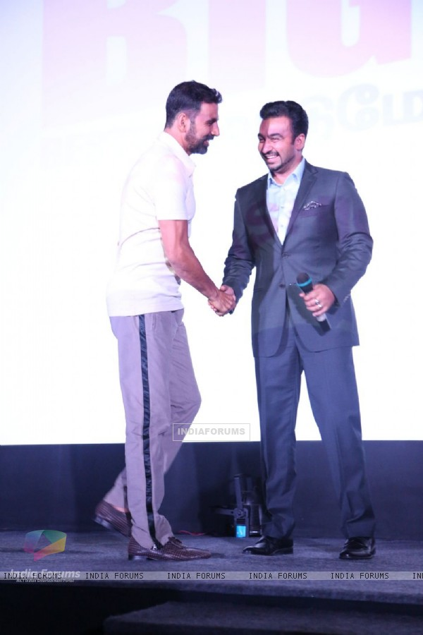 Akshay Kumar and Raj Kundra at Big Deal TV Launch