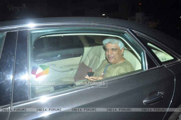 Javed Akhtar at Special Screening of Dil Dhadakne Do