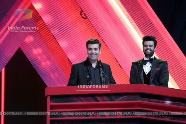 'The Hosts of AIBA Awards' Karan Johar and Manish Paul