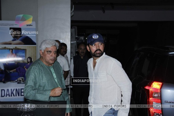 Javed Akhtar for Screening of Dil Dhadakne Do