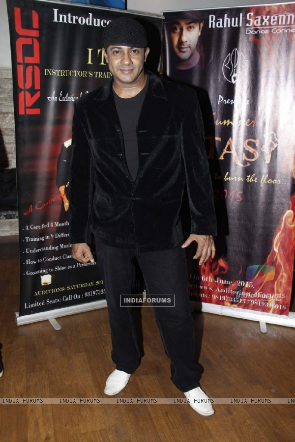 Rahul Saxena poses for the media at his Dance Fest