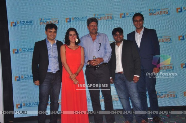 Mini Mathur and Kapil Dev at R Square Event