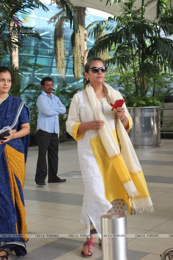 Shabana Azmi Snapped at Airport