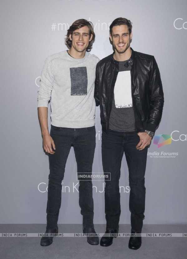 Jordan and Zac Stenmark at Calvin Klein Jeans Music Event in Hong Kong