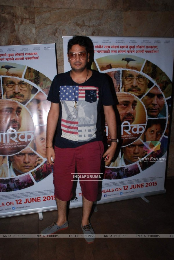 Mukesh Chhabra at Screening of Marathi Movie 'Nagrik'