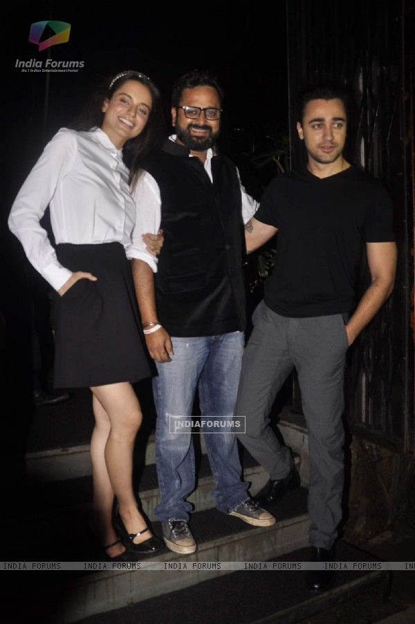 Kangana, Nikhil Advani and Imran Khan at Katti Batti Wrap Up Bash!