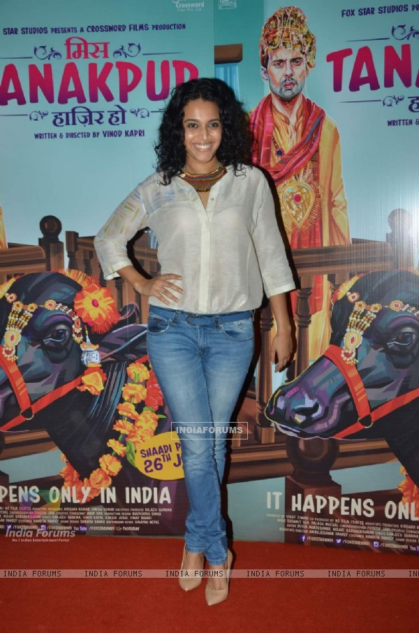 Swara Bhaskar at Premiere of Miss Tanakpur Haazir Ho