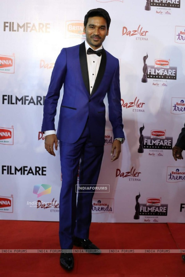 Dhanush was seen at the 62nd South Filmfare Awards