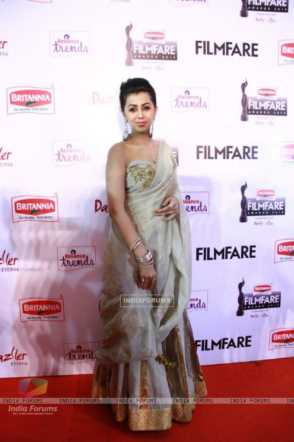 Nikki Galrani was at the 62nd South Filmfare Awards