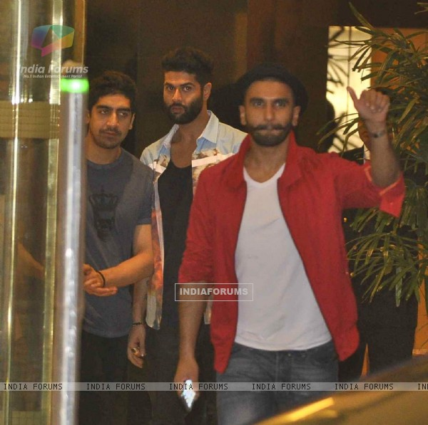 Ranveer Singh, Kunal Rawal and Ayan Mukherji at Arjun Kapoor's Birthday Bash!