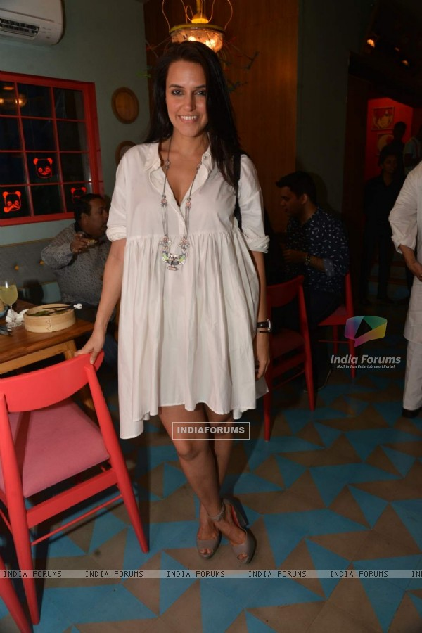 Neha Dhupia Snapped at Fatty Bow Restaurant Launch!
