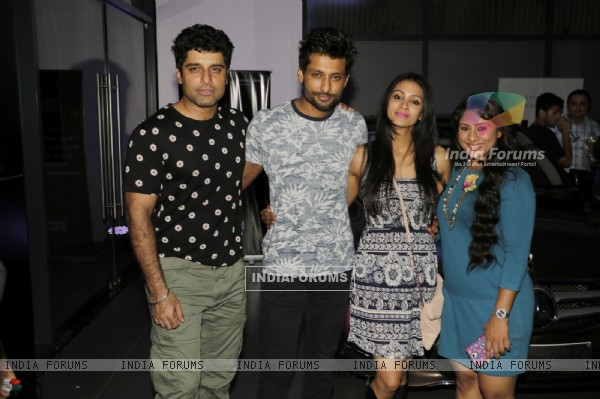 Indraneel Sengupta and Barkha Bisht at Launch of Sai and Shakti Anand's Entertainment Company