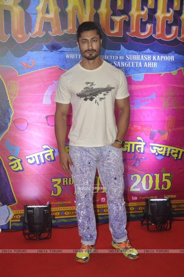 Vidyut Jamwal at Premiere of Guddu Rangeela